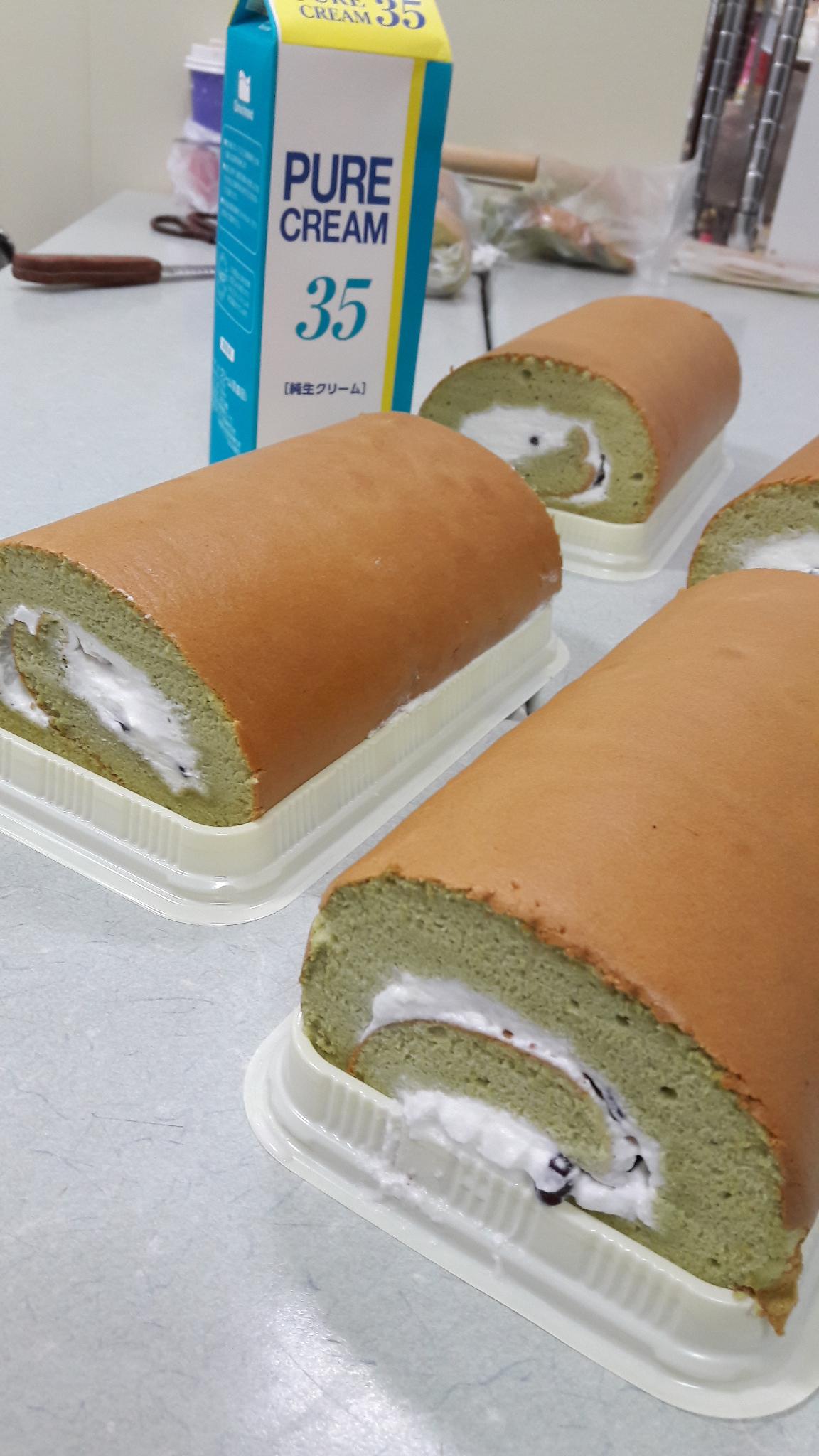 20161029 抹茶紅豆生乳卷蛋糕DIY課程  課程紀事