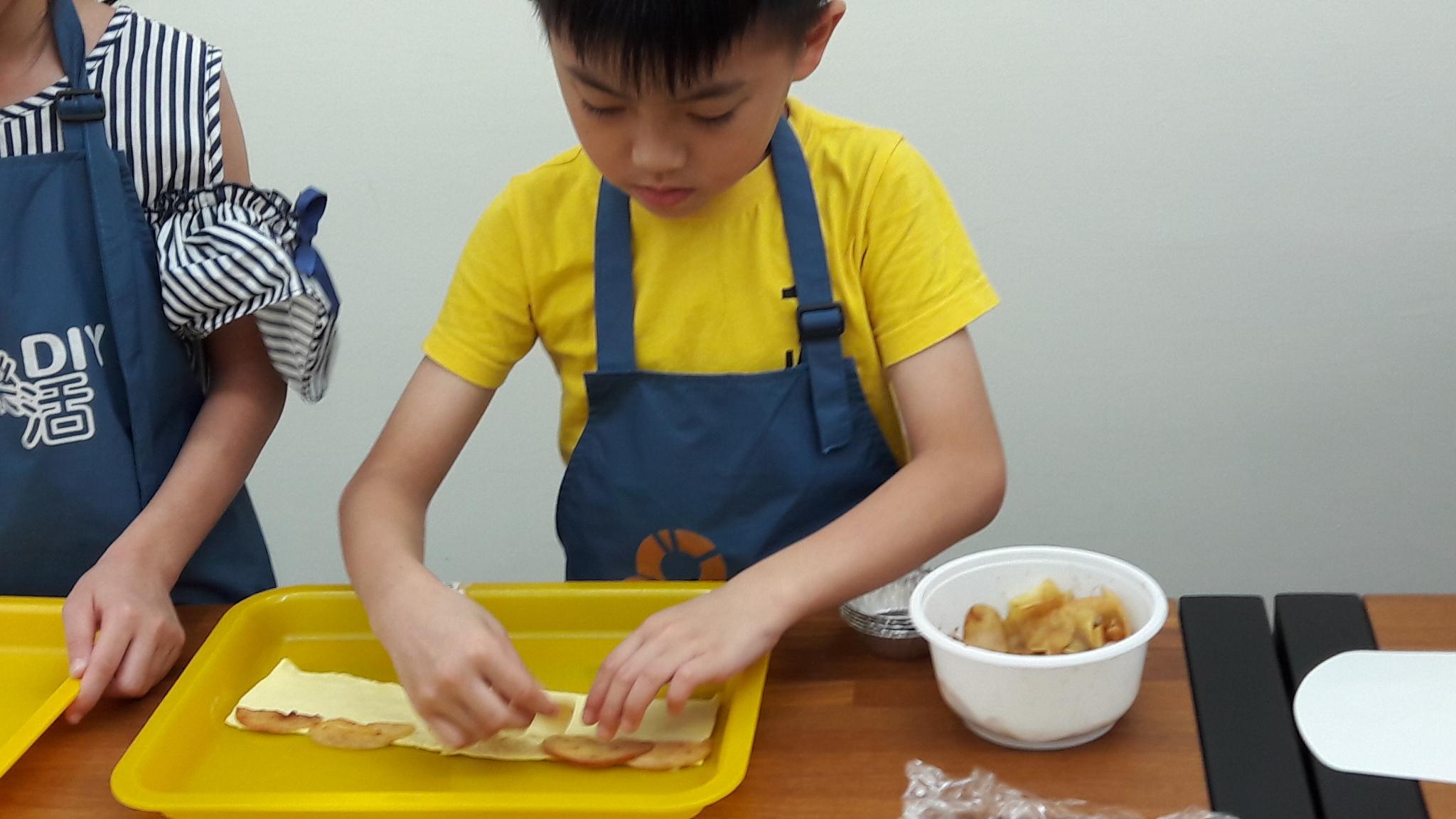 2017/07/11 兒童烘焙A班 蘋果玫瑰卷 DIY課程-課程紀事